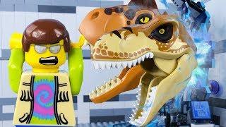 LEGO City Time Travel STOP MOTION LEGO Jurassic World: T-Rex Attack| LEGO City | By Billy Bricks