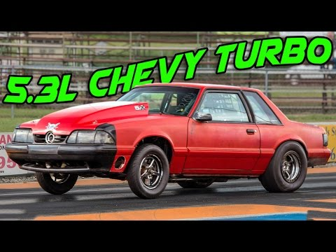 8 Second Turbo CHEVY-STANG Sweeps Street Class!