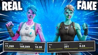 I EXPOSED fake GHOUL TROOPERS stats in Fortnite...