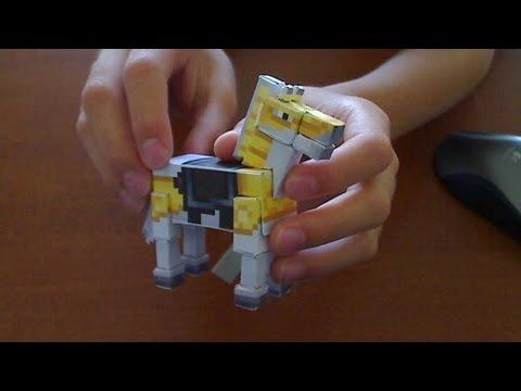 Minecraft Papercraft Black Horse Minecraft Horse Papercraft