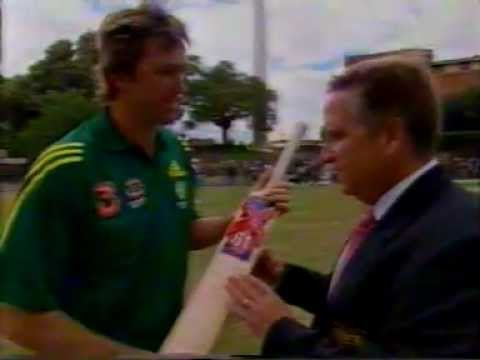 Glenn McGrath 61 and his signature bat
