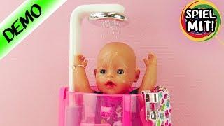 Baby Born deutsch BADEN in der neuen REGEN DUSCHE | Badespaß für Baby Born & Sister | Zapf Creation