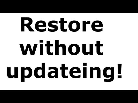 How To Restore Your iPhone. iPad pr iPod Touch Without Updating!