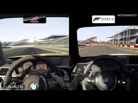 Assetto Corsa vs Forza Motorsport 6 - BMW M4 Coupe at Catalunya