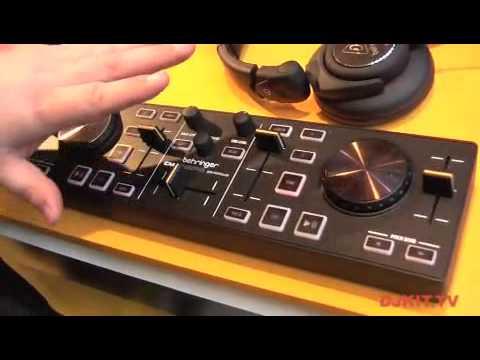 Behringer DJ Controller CMD MICRO Compact 2-Deck DJ MIDI Controller @ Musikmesse 2012 with DJkit.tv