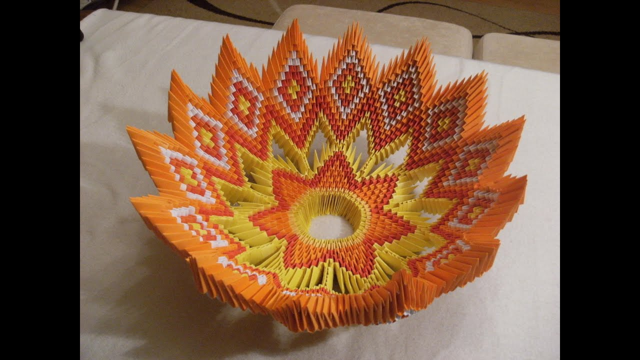 How to make 3d origami basket 24