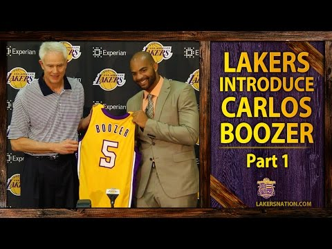 Lakers Introduce Carlos Boozer (PT. 1): 'Absolutely' Can Be A Starter