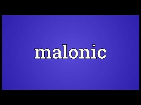 Header of malonic