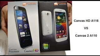 Micromax Canvas HD A116 VS Micromax Canvas 2 A110 - Performance And Benchmarks Comparison
