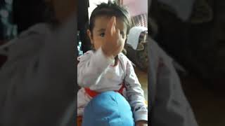 Funny baby first time sing jhoney jhoney
