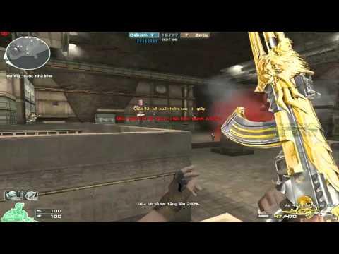 [ Bình Luận CF ] Set súng Gold AK 47 Noble Gold - Tiền Zombie v4