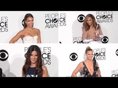Jessica Alba, Sandra Bullock, Nina Dobrev, Naya Rivera People's Choice Awards 2014