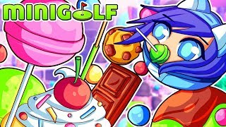 Don't EAT the chocolate from Candyland in Tower Unite Mini Golf! (Funny Moments)