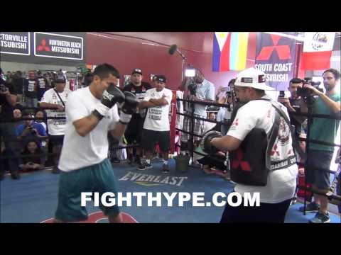 MARCOS MAIDANA HITS THE MITTS IN PREPARATION FOR REMATCH WITH FLOYD MAYWEATHER