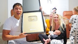 Unboxing Our 1 Million Plaque! (Very Emotional)