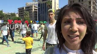 Syria: Colourful 'I Love Aleppo' festival bursts to life
