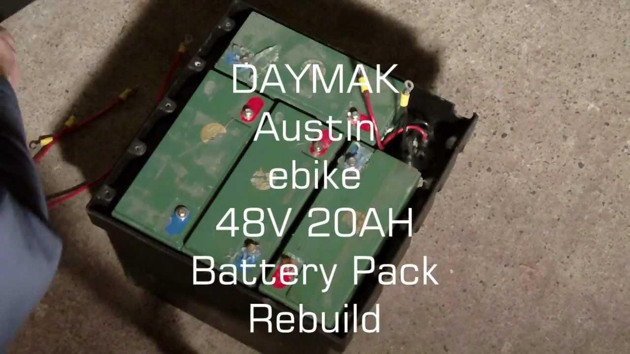 Daymak Austin Ebike 48v 20ah Battery Pack Rebuild