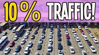IMPOSSIBLE 10% Traffic Flow Blows my MIND in Cities Skylines!