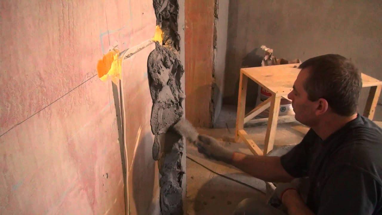 Штукатурка стен по маякам своими руками видео