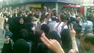 Karoobi among the people in Ghoba street 28 june
