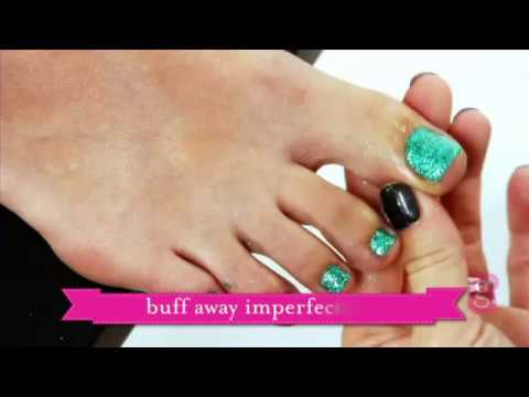 Glitter Toes Tutorial Glamour Gels Glitter Toes