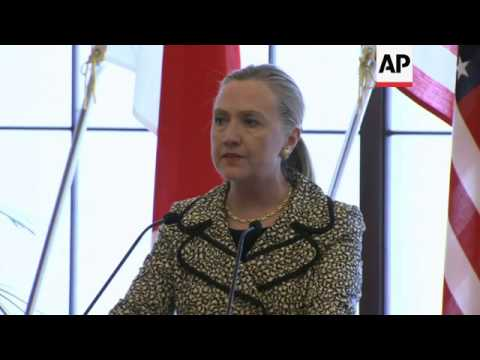Clinton, Gemba on donor talks, Syria and Libya, Spratlys