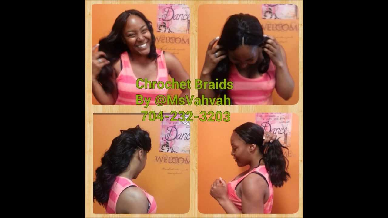 Crochet Braids w/ Straight Hair - Outre Batik- Loose Deep Body Bulk ...