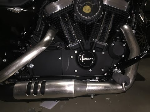 Harley Davidson 48 Sportster 2016 how to modify stock baffle exhaust spending $30