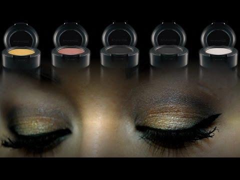 Макияж в серо-золотой гамме   GRAY and GOLD Makeup TUTORIAL