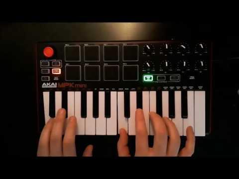 Akai mpk mini - Live looping with FL Studio #1