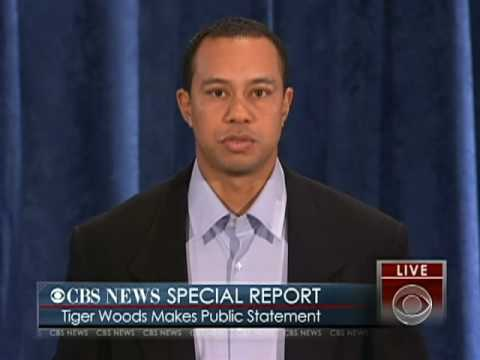 Tiger Woods Publicly Apologizes