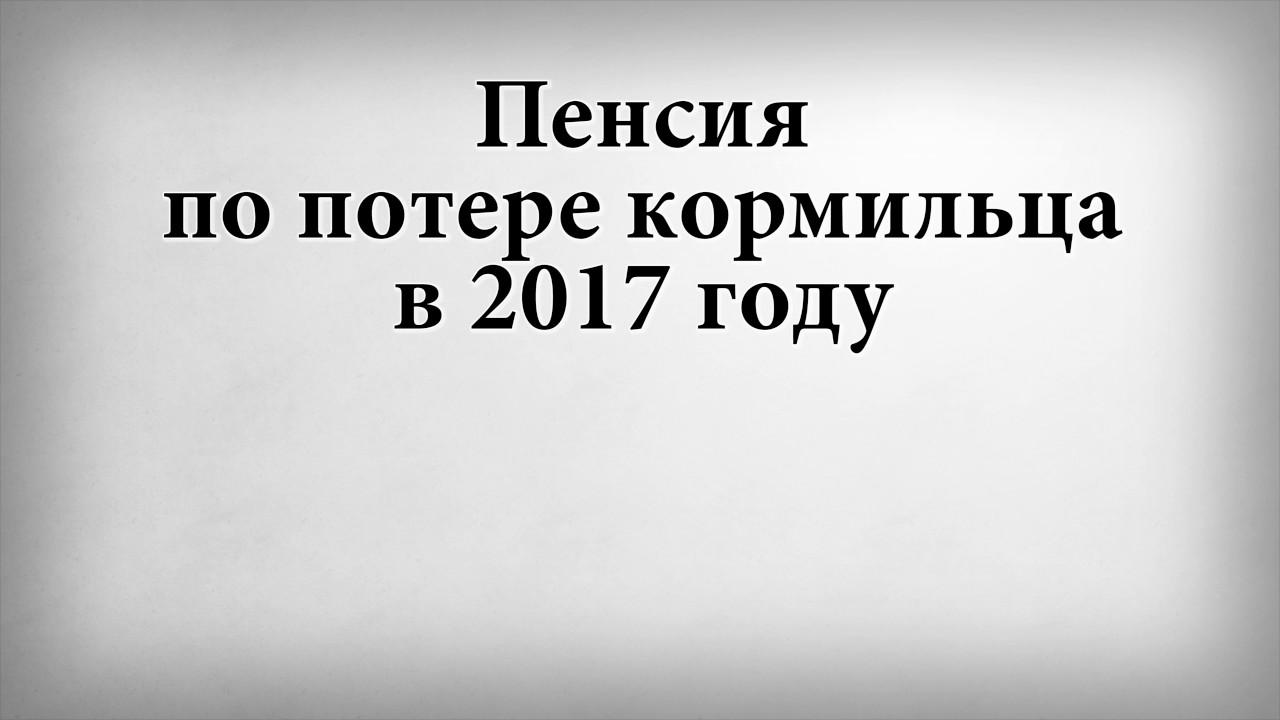 Сумма пенсии по потере кормильца в 2017 году ульяновск ничуть