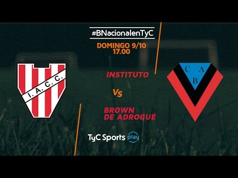 Primera B Nacional: Instituto vs. Brown de Adrogué | #BNacionalenTyC