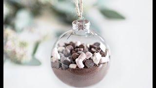DIY hot chocolate christmas ornaments