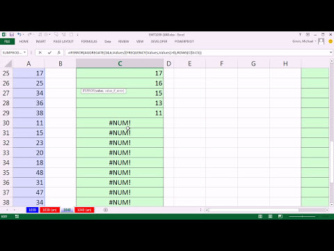 Excel Magic Trick 1040: Formula To Extract & Sort A Unique List Of Numbers, No Empty Cells Or Text