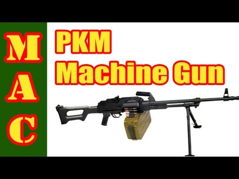 Russian PKM Machine Gun