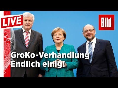Durchbruch bei den Koalitionsverhandlungen - BILD live 07.02.18