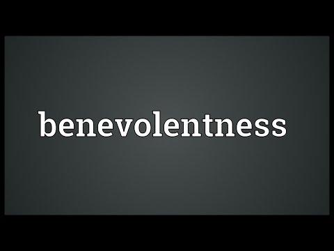Header of benevolentness