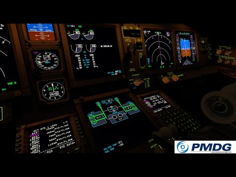 FSX PMDG 777-300ER Landing  KLAX Los Angeles Virgin Australia Cockpitview