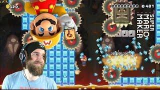 Super Meat Bros. on Ice | Slippery Sawblades - Super Mario Maker