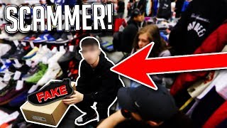 SCAMMER SELLING FAKE YEEZYS EXPOSED AT SNEAKERCON