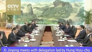 Xi Jinping meets with delegation led by Hung Hsiu-chu