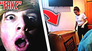*MORGZ* I Mailed Myself in a Box to my Girlfriends House... (24 Hour Challenge)