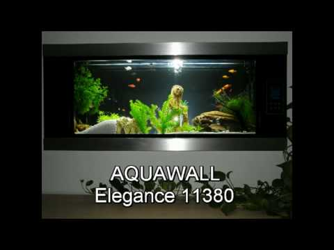 akwarium 76 l aquawall wand aquarium elegance 11380 youtube. Black Bedroom Furniture Sets. Home Design Ideas