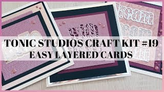 Tonic Craft Kit #19 easy layered cards