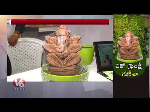 Eco Friendly Ganesha | BNI Nat Holds Eco Exhibition In Hyderabad | V6 News