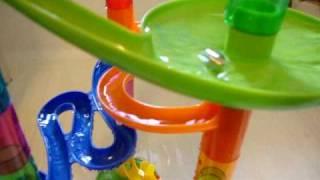 ピタゴラで使う玩具に水を入れてみた