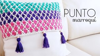 PUNTO MARROQUÍ A CROCHET | (ENGLISH SUB!) tutorial paso a paso