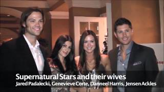 Jared & Genevieve Padalecki and Jensen & Danneel Ackles at The Once Upon A Cure
