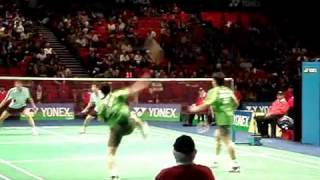 Amazing 92 shot badminton rally at 2007 All England Open